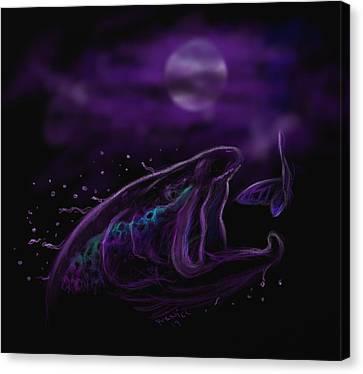 Night Life At The River  Canvas Print by Yusniel Santos
