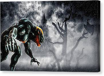 Night Of The Lycan Canvas Print by Bob Orsillo