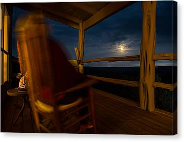 Night On The Porch Canvas Print by Darryl Dalton