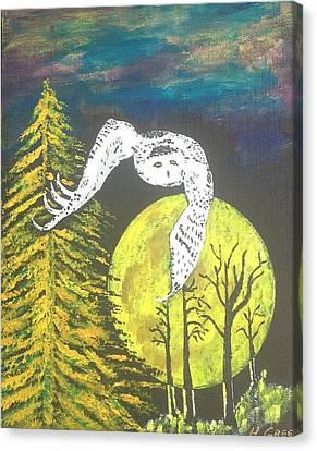 Night-owl Canvas Print by Harold Greer