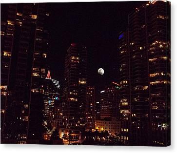 Night Passage - San Diego Canvas Print by Glenn McCarthy