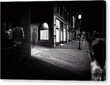 Night People Main Street Canvas Print by Bob Orsillo