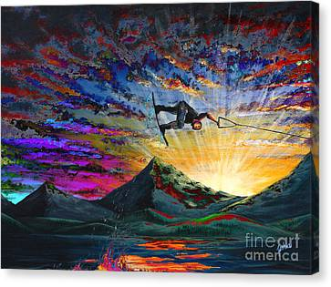 Night Ride Canvas Print by Teshia Art