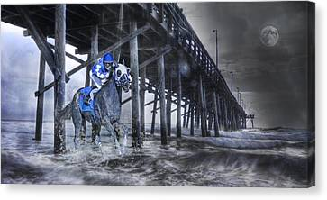 Night Run II Canvas Print by Betsy C Knapp