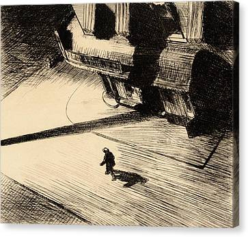 Night Shadows Canvas Print by Edward Hopper