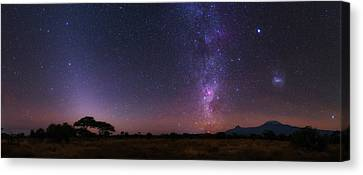 Night Sky Over Mount Kilimanjaro Canvas Print by Babak Tafreshi