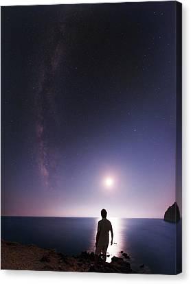 Night Sky Over The Mediterranean Sea Canvas Print by Babak Tafreshi