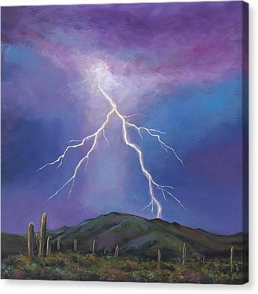 Night Strike Canvas Print by Johnathan Harris
