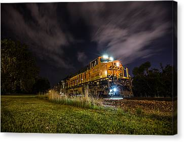 Night Train 3 Canvas Print by Aaron J Groen