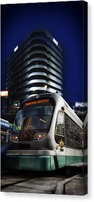 Night Train Canvas Print by Gary Warnimont