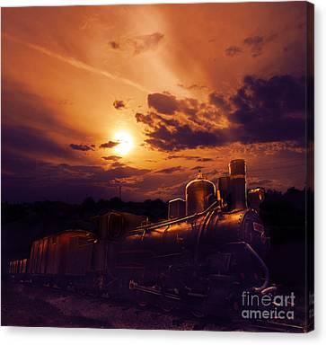 Night Train Canvas Print by Jelena Jovanovic