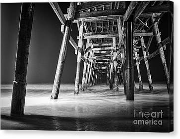 Night View Under San Clemente Pier Canvas Print by Ana V  Ramirez