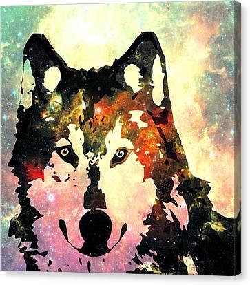 Night Wolf Canvas Print by Anastasiya Malakhova
