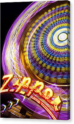 Night Zipper Canvas Print by Caitlyn  Grasso