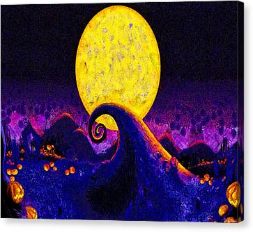 Nightmare Before Christmas Canvas Print by Joe Misrasi