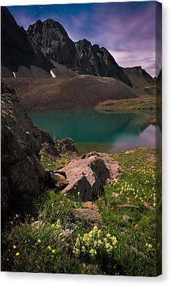 Nightscape Bouquet Of Colors In American Basin Canvas Print by Mike Berenson