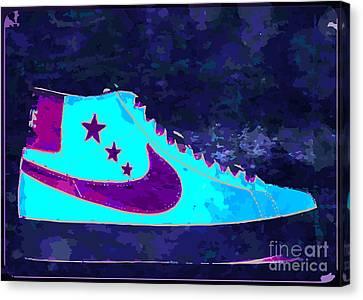 Nike Blazer Canvas Print by Alfie Borg