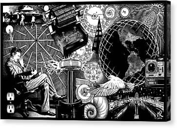Tesla Canvas Print by Matthew Ridgway