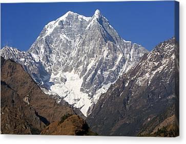Nilgiri South, The Himalayas, Nepal Canvas Print by Aidan Moran