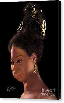 Nina Simone Canvas Print by Reggie Duffie