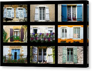 Nine French Windows Collage Canvas Print by Georgia Fowler