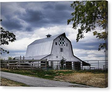 Nine Patch Quilt Barn Canvas Print by Cricket Hackmann