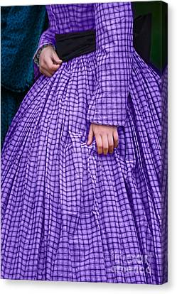Ninetenth Century Woman In Purple Canvas Print by Stephanie Frey
