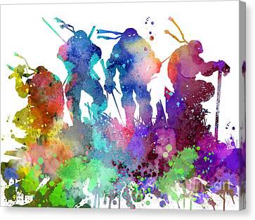Ninja Turtles Canvas Print by Luke and Slavi