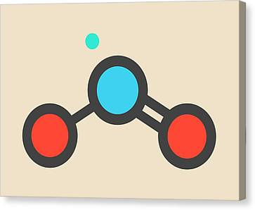 Nitrogen Dioxide Air Pollution Molecule Canvas Print by Molekuul
