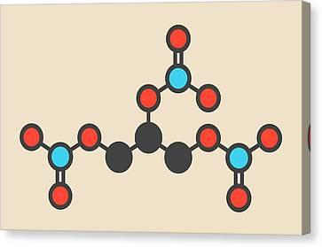 Nitroglycerin Molecule Canvas Print by Molekuul