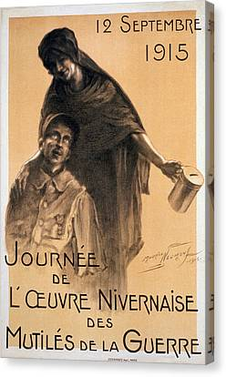 Nivernaise Day For The War Disabled Canvas Print by Maurice Louis Henri Neumont