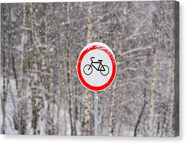 No Bikes Canvas Print by Alexander Senin