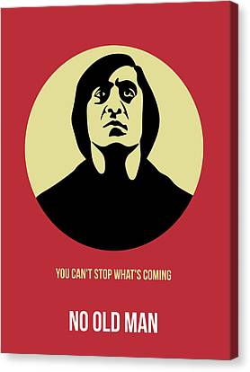 No Country For Old Man Poster 3 Canvas Print by Naxart Studio