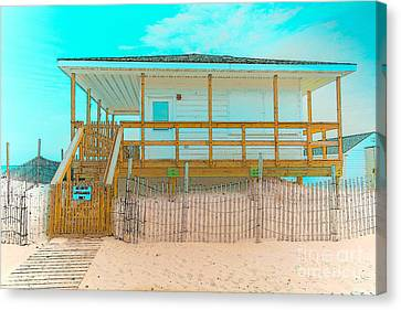 No Entry Lifeguards Only Canvas Print by Gary Keesler