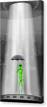 No Intelligent Life Here Canvas Print by Mike McGlothlen