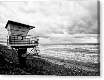No Lifeguard On Duty Canvas Print by Tanya Harrison