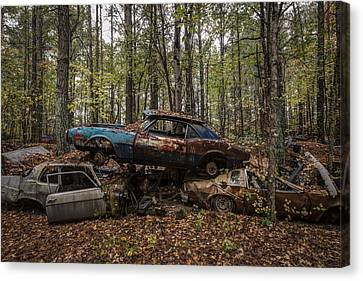 No Parking Canvas Print by Debra and Dave Vanderlaan