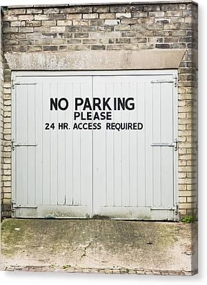 No Parking Canvas Print by Tom Gowanlock