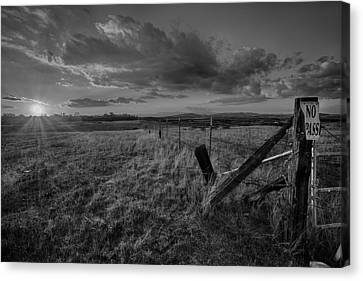 No Pass Black And White Canvas Print by Peter Tellone