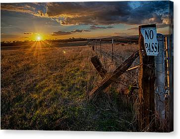 No Pass II Canvas Print by Peter Tellone