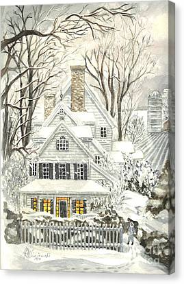 No Place Like Home For The Holidays Canvas Print by Carol Wisniewski