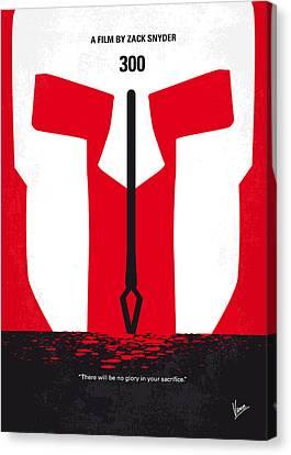 No001 My 300 Minimal Movie Poster Canvas Print by Chungkong Art
