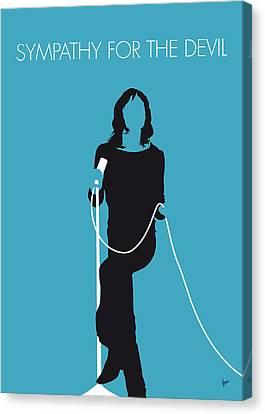 No005 My The Stones Minimal Music Poster Canvas Print by Chungkong Art