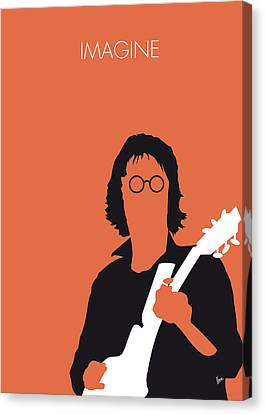 No013 My John Lennon Minimal Music Poster Canvas Print by Chungkong Art