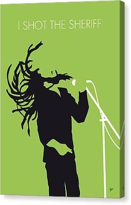 No016 My Bob Marley Minimal Music Poster Canvas Print by Chungkong Art