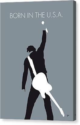 No017 My Bruce Springsteen Minimal Music Poster Canvas Print by Chungkong Art