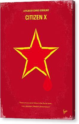 No017 My Citizen X Minimal Movie Poster Canvas Print by Chungkong Art