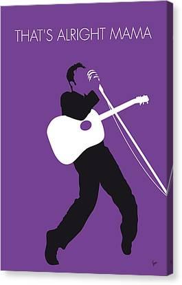No021 My Elvis Minimal Music Poster Canvas Print by Chungkong Art