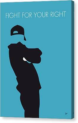 No025 My Beastie Boys Minimal Music Poster Canvas Print by Chungkong Art
