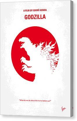 No029-2 My Godzilla 1954 Minimal Movie Poster.jpg Canvas Print by Chungkong Art